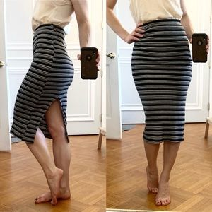 Bershka Striped Pencil Skirt